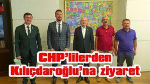 CHP İLÇE ÖRGÜTÜ, 6 AYLIK FAALİYET RAPORUNU KILIÇDAROĞLU'NA İLETTİ