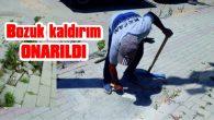 TEHLİKE YARATAN KALDIRIM ONARILDI