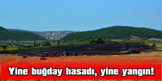 YENİMUHACİR'DE BUĞDAY YANGINI!