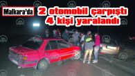 MALKARA'DAKİ KAZADA 2 OTOMOBİL ÇARPIŞTI, 4 KİŞİ YARALANDI
