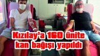GELİBOLU'DA KIZILAY'A 160 ÜNİTE KAN BAĞIŞI YAPILDI