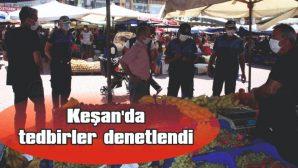 HALK PAZARI DENETLENDİ
