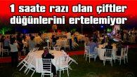 'COVİD-19' EVLENECEK ÇİFTLERİN MUTLULUKLARINI ENGELLEYEMEDİ