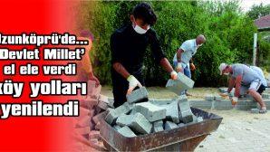 'DEVLET MİLLET' EL ELE VERDİ KÖY YOLLARI YENİLENDİ
