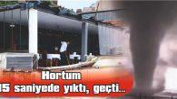 HORTUM BALKON DUVARINI DEVİRDİ