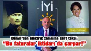 "DEMİR: ""BU FATURALAR İKTİDARI DA ÇARPAR!"""
