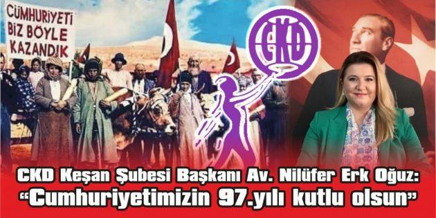 """""""CUMHURİYETİMİZ BİR DÜNYA DEVRİMİDİR VE İLELEBET SÜRECEKTİR!"""""""