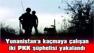 YUNANİSTAN'A KAÇMAYA ÇALIŞAN İKİ PKK ŞÜPHELİSİ YAKALANDI