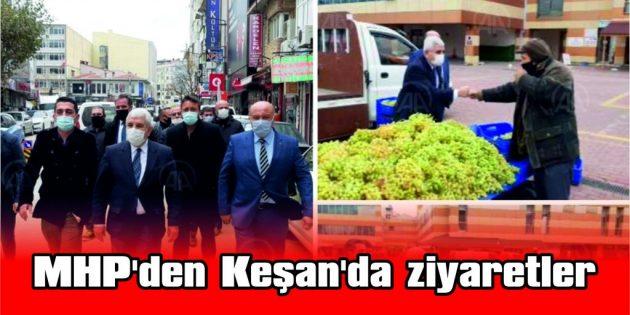 MHP'DEN KEŞAN'DA ZİYARETLER
