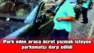 PARK EDEN ARACA ÜCRET YAZMAK İSTEYEN PARKOMATÇI DARP EDİLDİ