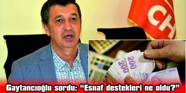 """GAYTANCIOĞLU: """"DESTEKLER DE MASKE DAĞITIMINA DÖNMESİN!"""""""