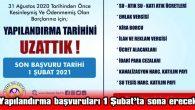 BAŞVURULAR İNTERNET SİTESİ ÜZERİNDEN DE YAPILABİLİYOR