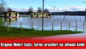 TARIM ARAZİLERİ SU ALTINDA KALDI