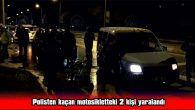 EDİRNE'DE POLİSTEN KAÇAN MOTOSİKLETTEKİ 2 KİŞİ YAKALANDI