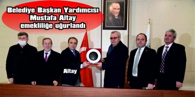 KEŞAN BELEDİYE BAŞKAN YARDIMCISI MUSTAFA ALTAY'A PLAKET VERİLDİ