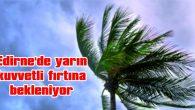 EDİRNE'DE YARIN KUVVETLİ FIRTINA BEKLENİYOR