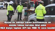 KEŞAN'DA 1 HAFTADA 371 BİN 700 TL CEZAİ İŞLEM UYGULANDI