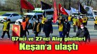 57'NCİ VE 27'NCİ ALAY GÖNÜLLERİ ÇANAKKALE'YE YOLA ÇIKTI