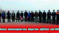 TEKİRDAĞ'DA BASIN MENSUPLARINA DEPREM EĞİTİMİ VERİLDİ