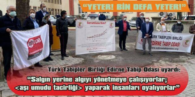 """""""SİYASİ VE EKONOMİK ÇIKARLARI DEĞİL, İNSANI ÖNCELEYİN!"""""""