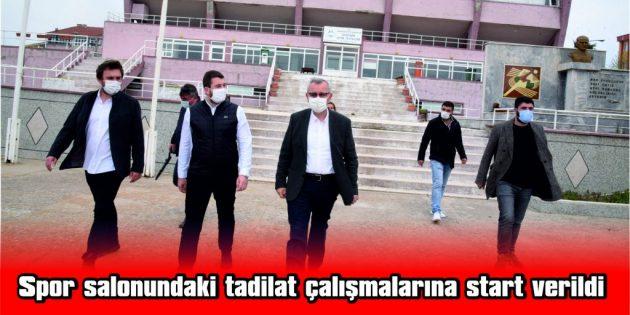 """MUSTAFA HELVACIOĞLU: """"SPOR SALONUNDA HER TÜRLÜ YENİLİK YAPILACAK"""""""