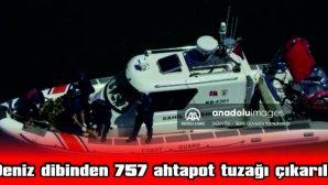 ÇANAKKALE'DE DENİZ DİBİNDEN 757 AHTAPOT TUZAĞI ÇIKARILDI