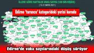 EDİRNE 'TURUNCU' KATEGORİDEKİ YERİNİ KORUDU