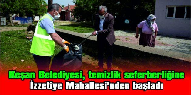 """BAŞKAN HELVACIOĞLU: """"TEMİZLİK SEFERBERLİĞİMİZİ BAŞLATTIK"""""""