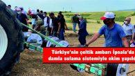 TÜRKİYE'NİN ÇELTİK AMBARI İPSALA'DA DAMLA SULAMA SİSTEMİYLE EKİM YAPILDI