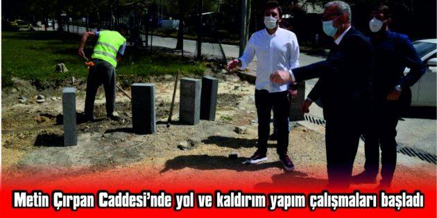 """HELVACIOĞLU: """"YOL VE 1200 METRE KALDIRIM YAPMAK İÇİN İŞE BAŞLADIK"""""""