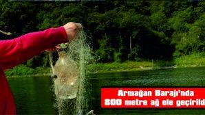 KIRKLARELİ'NDE BARAJA SERİLEN 800 METRE AĞ ELE GEÇİRİLDİ