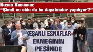 ŞARKÖY PAZARINA ALINMAYAN KEŞANLI PAZARCILAR, BELEDİYEYİ PROTESTO ETTİ