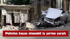 OTOMOBİLDEKİ 5 KİŞİ HAFİF YARALANDI