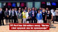 """BAŞKAN DEMİR: """"EDİRNE'DE HERKES RAHAT UYUYACAK AMA BİZ UYUMAYACAĞIZ"""""""