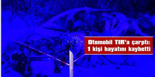 İPSALA'DA MEYDANA GELEN KAZADA 1 KİŞİ YAŞAMINI YİTİRDİ