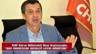 """GAYTANCIOĞLU: """"AKP, EMEKLİLERE SEFALETİ LAYIK GÖRÜYOR"""""""