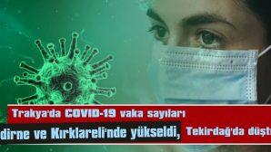 COVID-19 VAKALARI, EDİRNE VE KIRKLARELİ'NDE YÜKSELDİ, TEKİRDAĞ'DA DÜŞTÜ